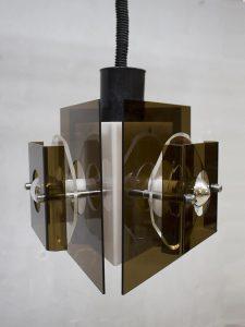 Vintage Raak lamp Space age perspex hanglamp