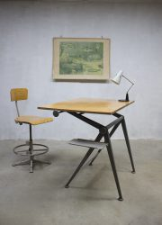 Wim Rietveld Friso Kramer drawing table desk reply industrial fifties design