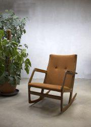 Midcentury design rocking chair Georg Jensen Kubus vintage schommelstoel