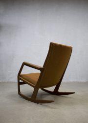 vintage Danish design rockingchair, vintage Deense schommelstoel Georg Jensen Kubus