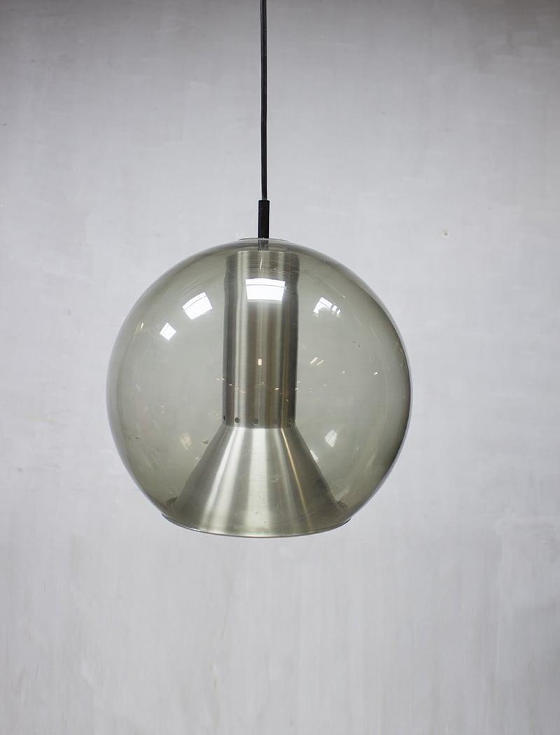 Large globe pendant lamp by Frank Ligtelijn for Raak vintage glazen ...