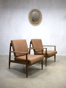Grete Jalk vintage design lounge chair fauteuil armchair Danish