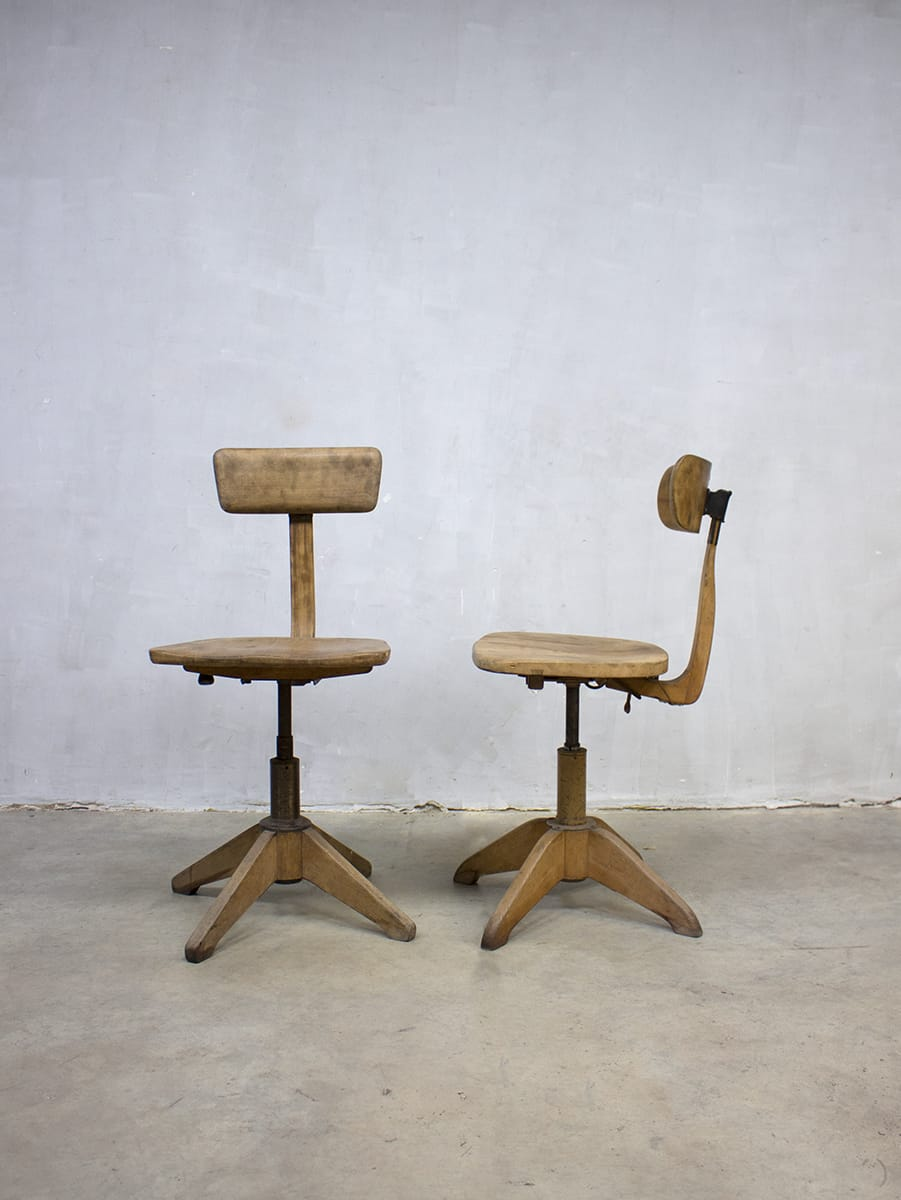Vintage industrial stool sedus atelier stoel krukken for Bauhaus stoel vintage
