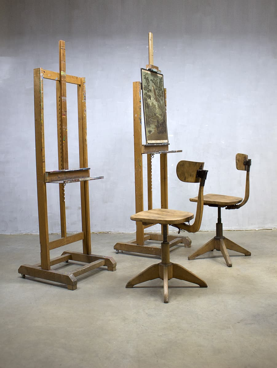 Vintage Houten Schildersezel Vintage Wooden Painter S Easel