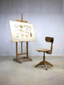 Vintage industrial stool Sedus atelier stoel kruk