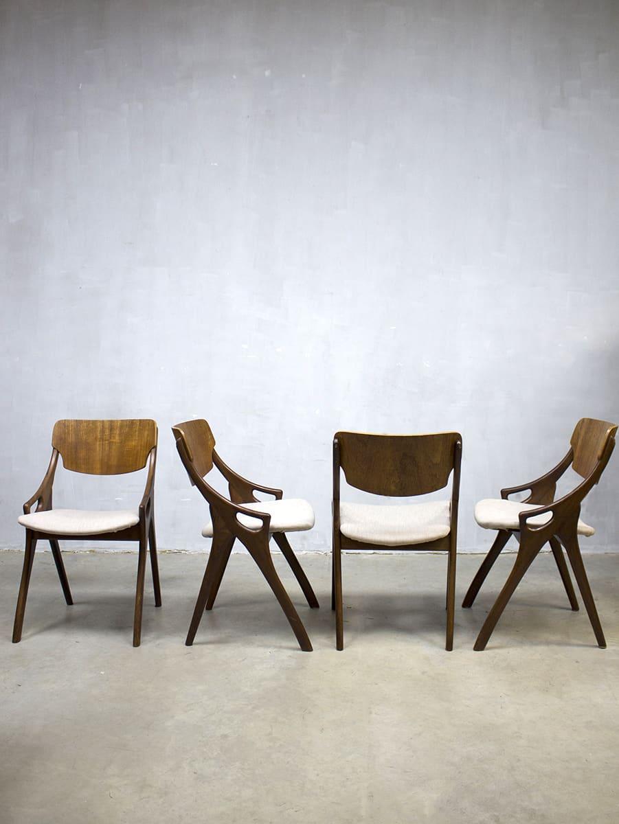 Hovmand olsen vintage eetkamer stoelen deens design for Vintage stoelen