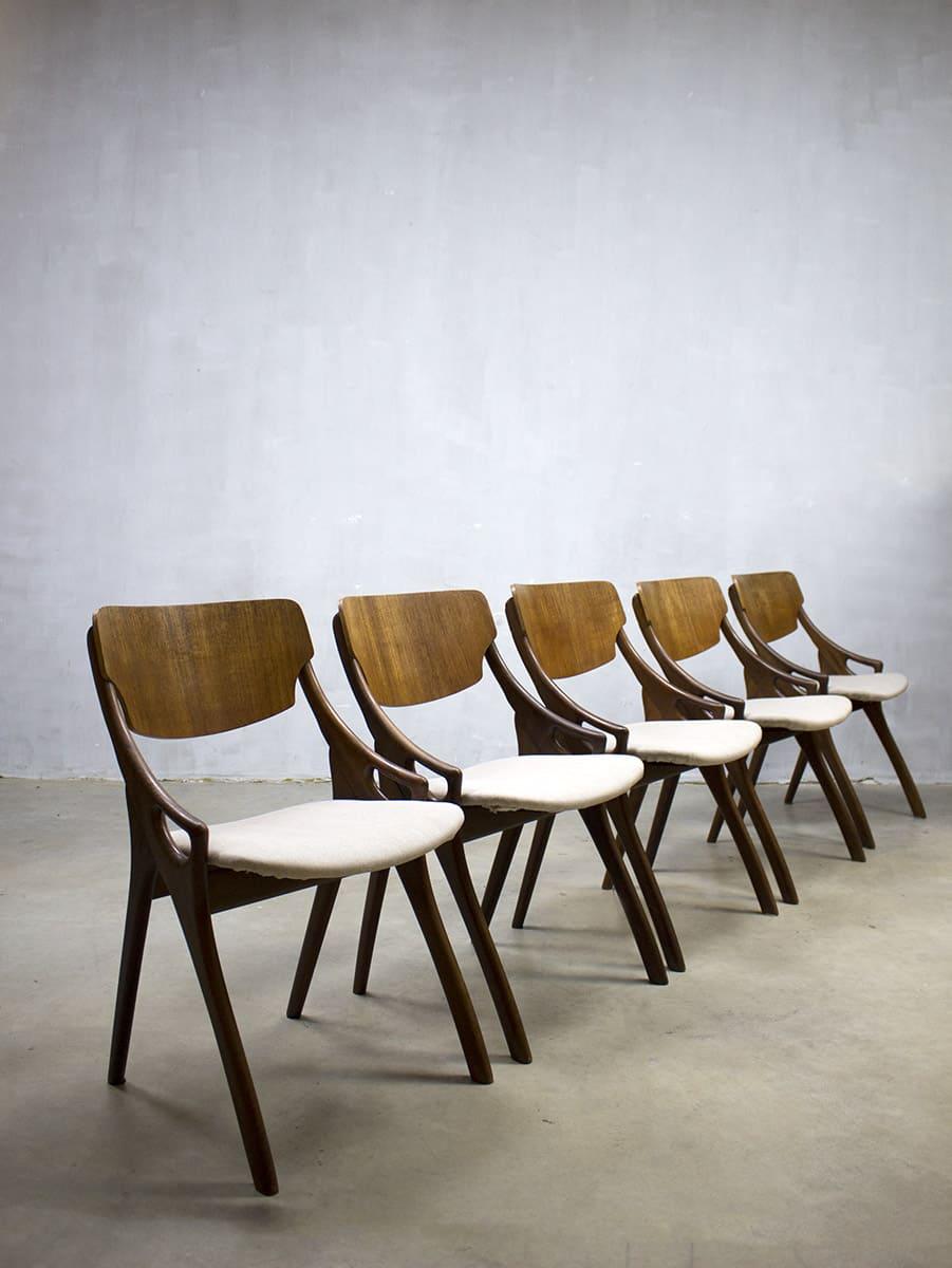 Hovmand olsen vintage eetkamer stoelen deens design danish dinner chairs h olsen - Ontwerp eetkamer design ...