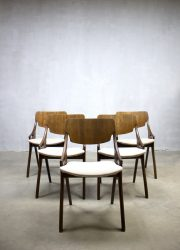 vintage midcentury Danish design dinner chairs Arne Hovmand Olsen