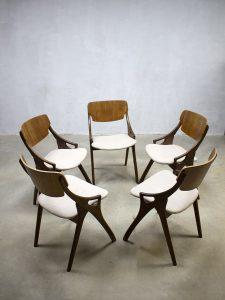 vintage design eetkamerstoelen Arne Hovmand Olsen fifties sixties