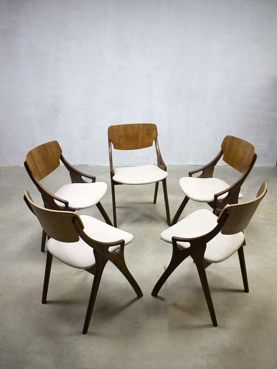 Eetkamerstoelen Design Stoelen.Hovmand Olsen Vintage Eetkamer Stoelen Deens Design Danish Dinner