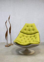 Midcentury swivel chair Artifort F588, vintage Artifort draaifauteuil Geoffrey Harcourt