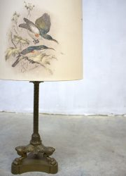 vintage brass birds rare sixties tablelamp