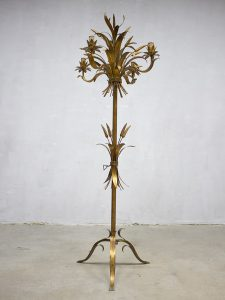 vintage Coco Chanel Hollywood regency style wheat floorlamp