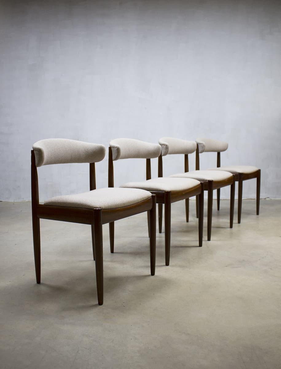 vintage Danish dinner chairs, vintage Deense eetkamerstoelen