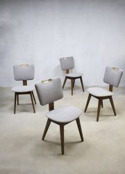 Vintage eetkamerstoelen jaren 60, vintage dinner chairs sixties