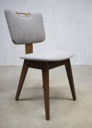 plywood vintage dinner chair Dutch vintage design eetkamerstoel