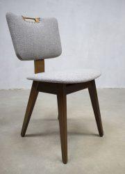 plywood vintage dinner chair Dutch vintage design eetkamerstoel