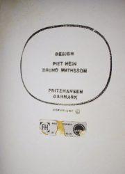Bruno Mathsson Piet Hein vintage table tafel