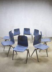 Vintage industriële stapelstoelen stoel Galvanitas S22 Industrial stacking chairs