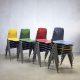 Vintage industriële stapelstoelen S22 Galvanitas stoel eetkamerstoel