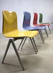 vintage industrial midcentury dutch design sixties chairs Galvanitas S22 stoelen