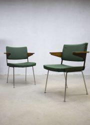 industriële eetkamer stoelen stoel Gispen chairs Dutch design