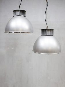 Vintage industrial pendant lamp AEG industriële hanglamp