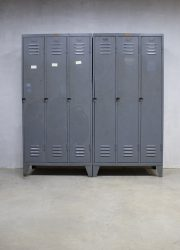 vintage lockers kasten industrieel, vintage locker cabinets Industrial