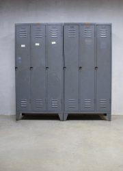 vintage lockers kasten industrieel, vintage locker cabinets Industrial
