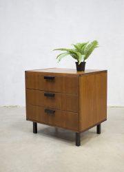 vintage retro ladenkastje nachtkastje kastje Pastoe nightstand teak