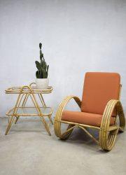 Vintage rotan bamboe fauteuil armchair