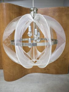 midcentury nylon lamp Paul Secon lamp Sompex