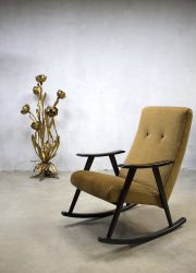 midcentury modern rocking chair vintage schommelstoel Webe Louis van Teeffelen