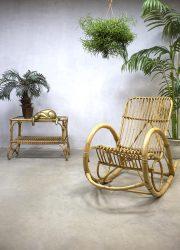 Rohe Noordwolde vintage rotan schommelstoel