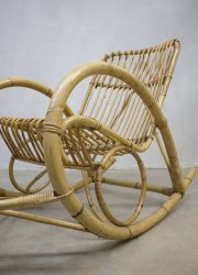 vintage rotan bamboo rockingchair Rohe Noordwolde