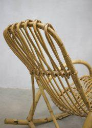vintage rattan bamboe rockingchair Rohe Noordwolde