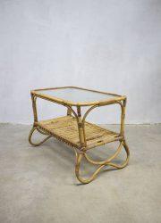 vintage rattan coffee table Rohe Noordwolde