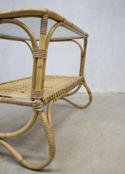Vintage design Rohe Noordwolde rattan table coffee table