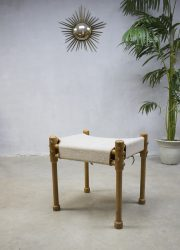 vintage safari chair stool hocker seventies