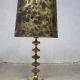Vintage tafellamp goud koperen lamp