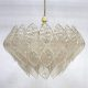 Space age kroonluchter acrylic chandelier pendant lamp ceiling light Kalmar style