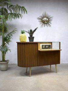 Vintage toonbank winkelvitrine jaren 60, vintage sixties cabinet counter