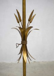 Vintage Hollywood floor lamp regency gouden koren lamp gold vintage style wheat