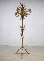 Vintage gouden koren lamp Hollywood regency stijl vintage wheat floor lamp