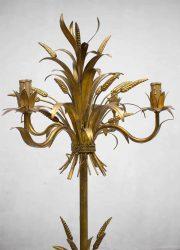 Hollywood regency stijl Vintage wheat floor lamp gouden koren lamp vintage