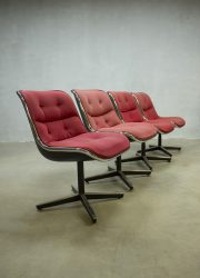 Midcentury vintage design stoel Pollock chair office chair dinner chair Knoll