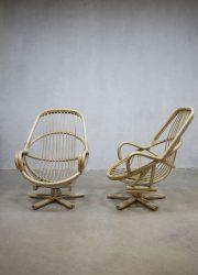 vintage lounge set bamboo design rattan rotan manou