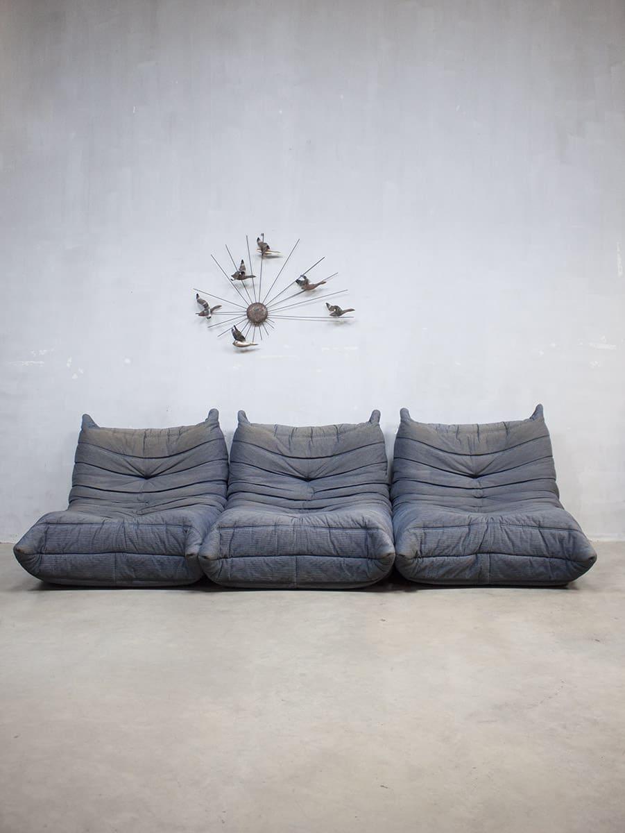 Design Bank Met Hocker.Togo Ligne Roset Vintage Design Lounge Bank Sofa Xxl Michel Ducaroy