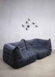 Vintage sofa bank Togo Ligne Roset hoekbank counter
