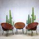 Vintage suède kuipstoelen balloon chairs Lusch & Co